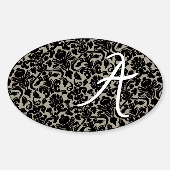 a_bags_monogram_07 Sticker (Oval)