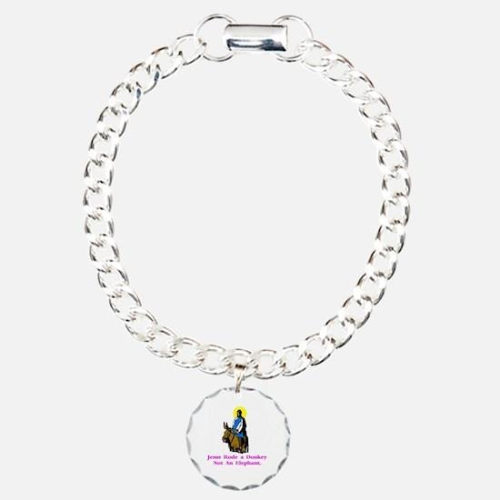 JesusRodeADonkeyXXX Charm Bracelet, One Charm