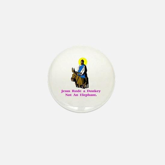 JesusRodeADonkeyXXX Mini Button