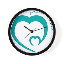 proud premmie dad Wall Clock