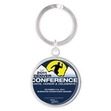 The 2011 Denver Conference Round Keychain