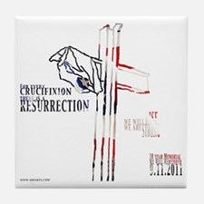 CrucifixionLight Tile Coaster