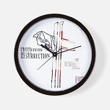 CrucifixionLight Wall Clock