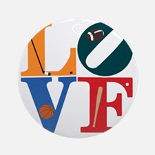 Philly Sports Love Round Ornament