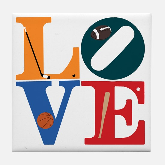 Philly Sports Love Tile Coaster