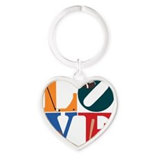 Philly Sports Love Heart Keychain