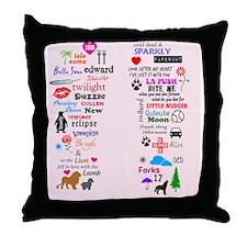 Twis Pink FF Throw Pillow