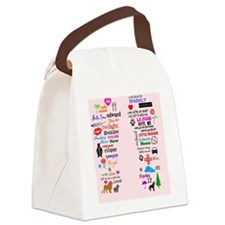 Twis Pink FF Canvas Lunch Bag