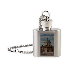 Paris - Bibliotheque Mazarine Red M Flask Necklace