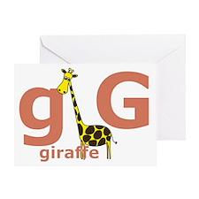GisforGiraffe Greeting Card