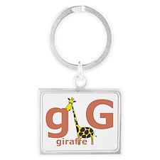 GisforGiraffe Landscape Keychain