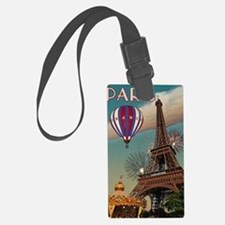Paris - Carrousel and Eiffel Tow Large Luggage Tag