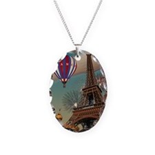 Paris - Carrousel and Eiffel T Necklace
