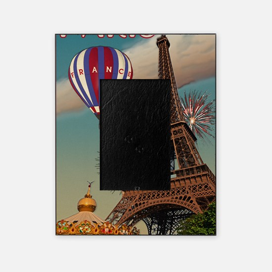 Paris - Carrousel and Eiffel Tower Picture Frame