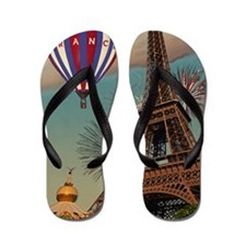 Paris - Carrousel and Eiffel Tower Flip Flops