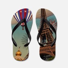 Paris - Carrousel and Eiffel Tower Flip Flops