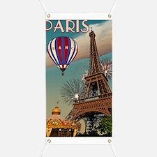 Paris - Carrousel and Eiffel Tower Banner