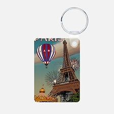 Paris - Carrousel and Eiff Aluminum Photo Keychain