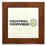 TOP Volleyball Everywhere Framed Tile