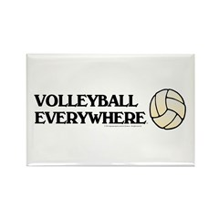TOP Volleyball Everywhere Rectangle Magnet