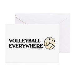 TOP Volleyball Everywhere Greeting Cards (Pk of 10