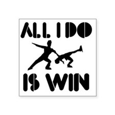 "figureskate Square Sticker 3"" x 3"""