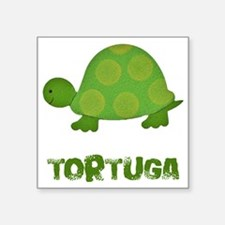 "tortuga Square Sticker 3"" x 3"""