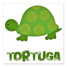 "tortuga Square Car Magnet 3"" x 3"""
