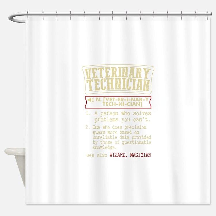 Veterinary Technician Dictionary Te Shower Curtain
