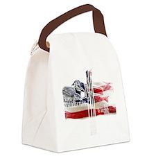 CrucifixionWhiteFlag Canvas Lunch Bag