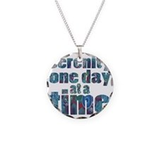 serenity-one-day-at-a-time Necklace Circle Charm