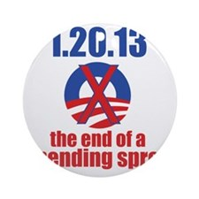 end-of-a-spending-spree-10x10 Round Ornament