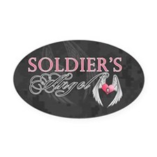 soldiers angel coin purse Oval Car Magnet