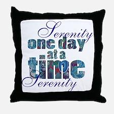 serenity-blank bbckground Throw Pillow