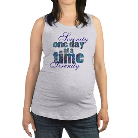 serenity-blank bbckground Maternity Tank Top