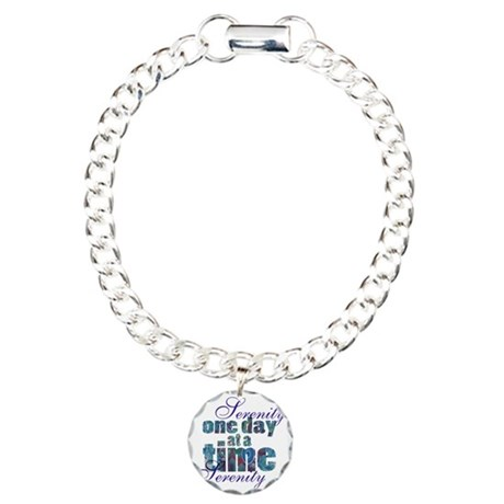serenity-blank bbckgroun Charm Bracelet, One Charm