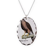Coopers Hawk Necklace Oval Charm