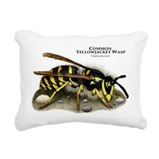 Common Yellowjacket Wasp Rectangular Canvas Pillow