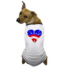 American At Heart Dog T-Shirt