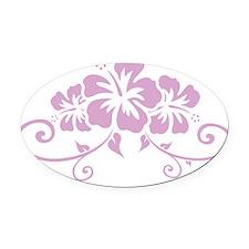 hawaiiflowerD Oval Car Magnet