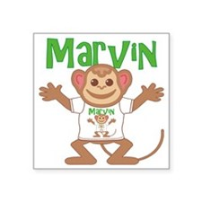 "marvin-b-monkey Square Sticker 3"" x 3"""