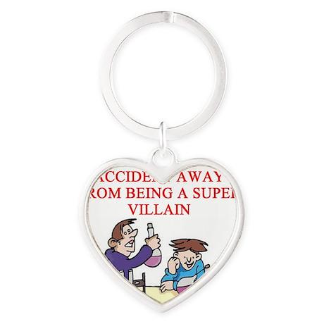 SUPER Heart Keychain