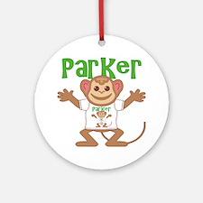 parker-b-monkey Round Ornament