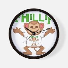 phillip-b-monkey Wall Clock