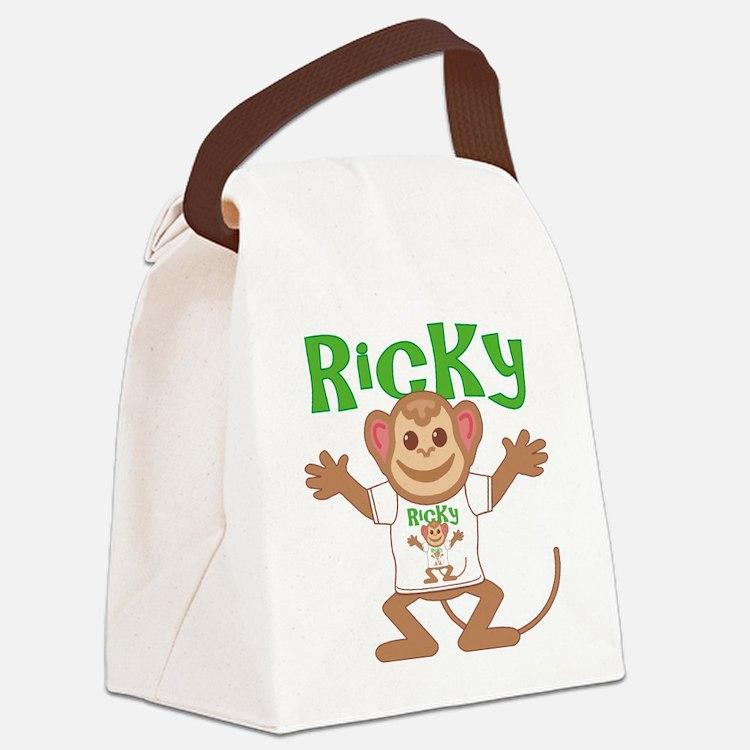 ricky-b-monkey Canvas Lunch Bag
