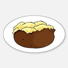 Baked potato Oval Decal