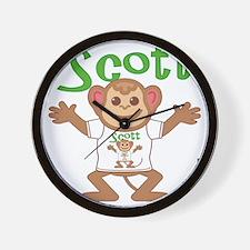 scott-b-monkey Wall Clock