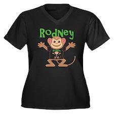 rodney-b-mon Women's Plus Size Dark V-Neck T-Shirt