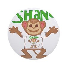 shane-b-monkey Round Ornament