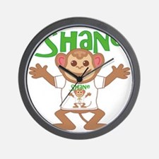 shane-b-monkey Wall Clock